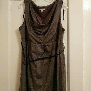 Belted Sleeveless Maternity Dress